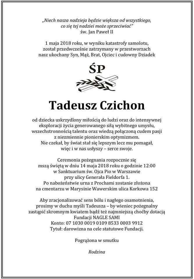 Tadeusz Czichon Pogrzeb